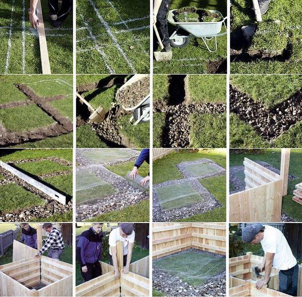 Etape in montajul unei jardiniere Timberra