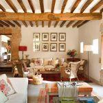 adelaparvu.com despre casa rustica din piatra, interior provensal, casa Spania, design interior Blanca Uriarte, Foto ElMueble (6)