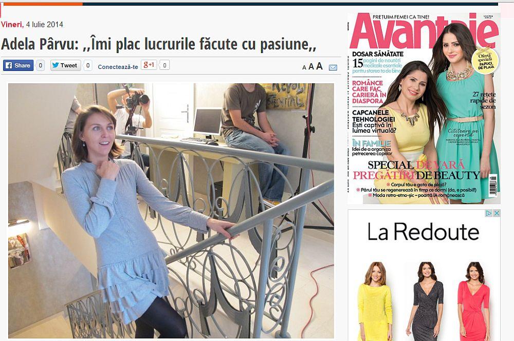 Adela Parvu in revista Avantaje