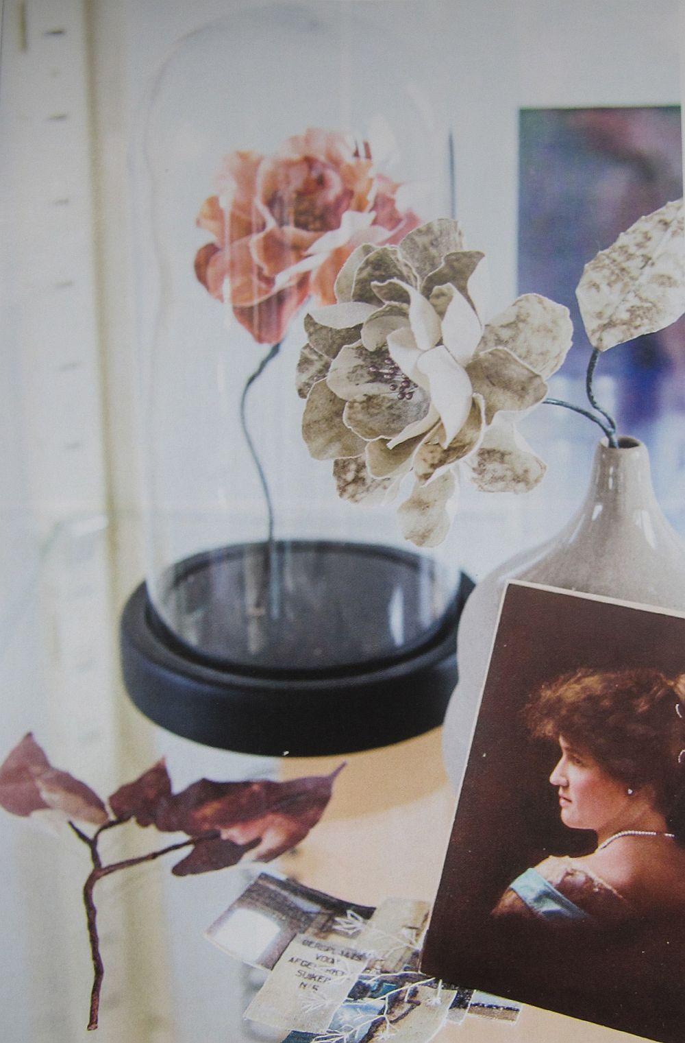 adelaparvu.com despre flori, frunze, pene de bumbac imprimate cu imagini vintage, artist Miranda van Dijk, Puur Anders (35)