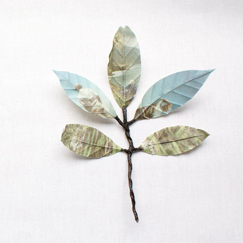 adelaparvu.com despre flori, frunze, pene de bumbac imprimate cu imagini vintage, artist Miranda van Dijk, Puur Anders