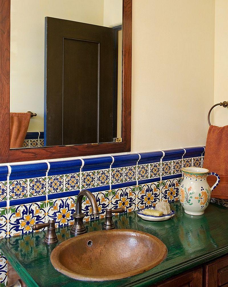 adelaparvu.com despre bai cu placi ceramice pictate, bai in stil mediteranean Avente Tile 2