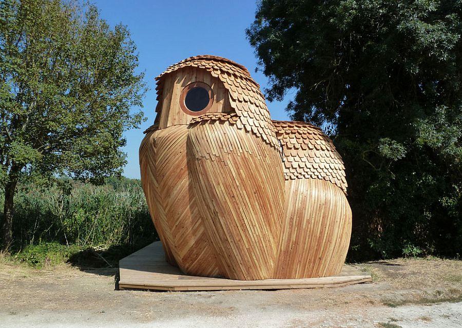 adelaparvu.com despre cabana in forma de bufnita, design Zebra3, Foto Bruitdufrigo Refuges Guetteurs (7)