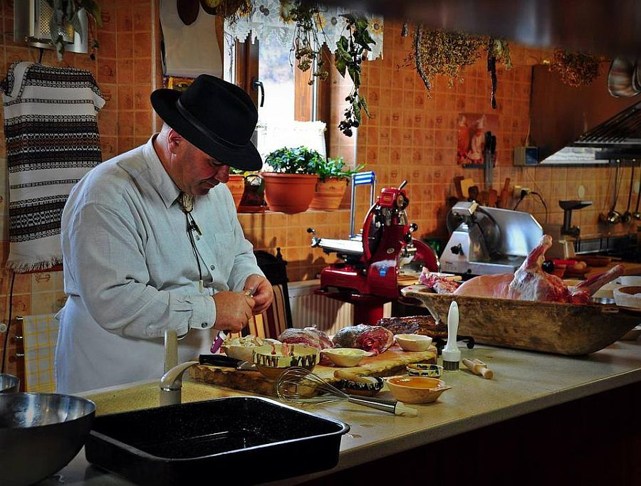 Ion Baciu in the kitchen