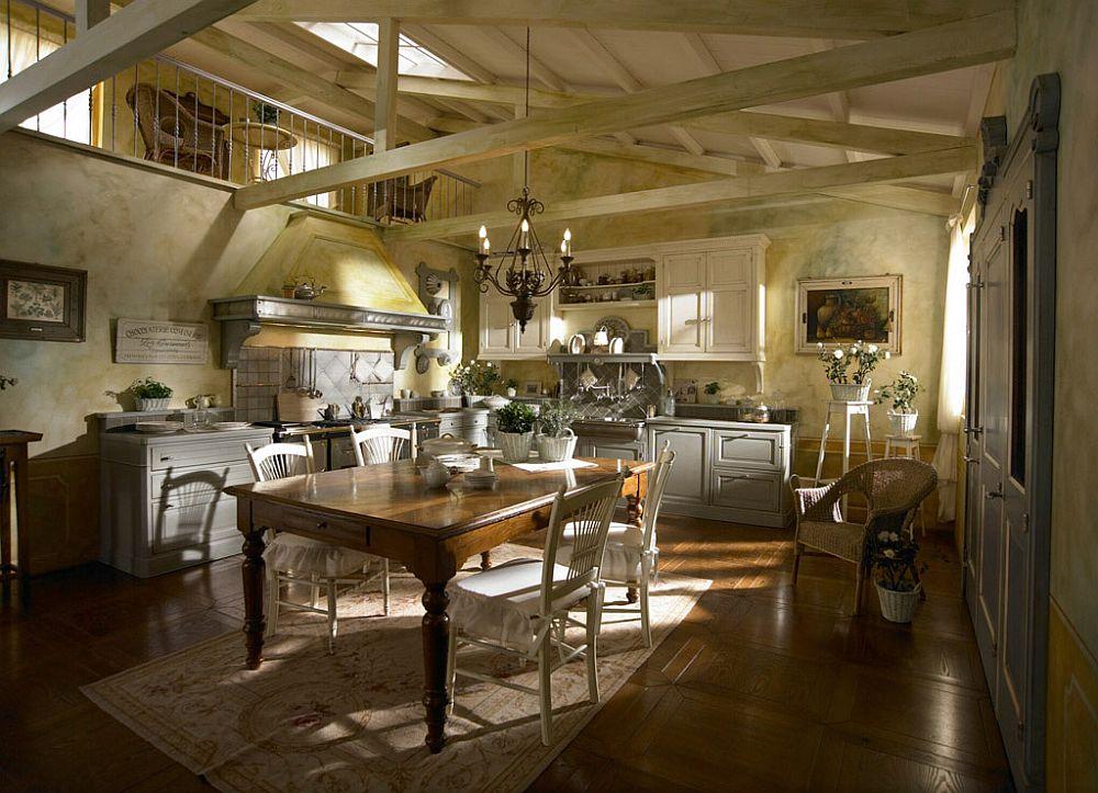 adelaparvu.com despre bucatarii rustice, bucatarii country style, model Dhialma, Marchi Cucine (3)