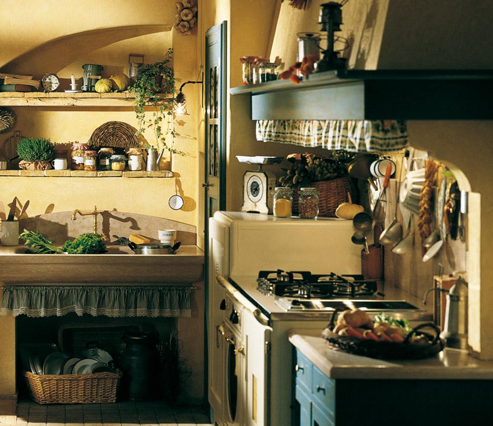 adelaparvu.com despre bucatarii rustice, bucatarii country style, model Doria, Marchi Cucine (2)