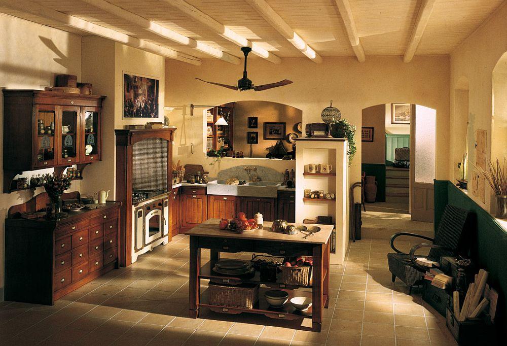 adelaparvu.com despre bucatarii rustice, bucatarii country style, model Hemingway, Marchi Cucine (6)
