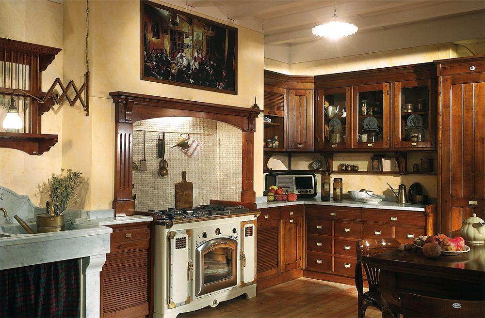adelaparvu.com despre bucatarii rustice, bucatarii country style, model Hemingway, Marchi Cucine (7)