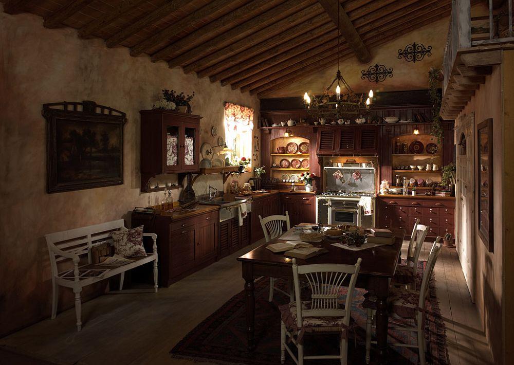 adelaparvu.com despre bucatarii rustice, bucatarii country style, model Incontrada, Marchi Cucine (1)
