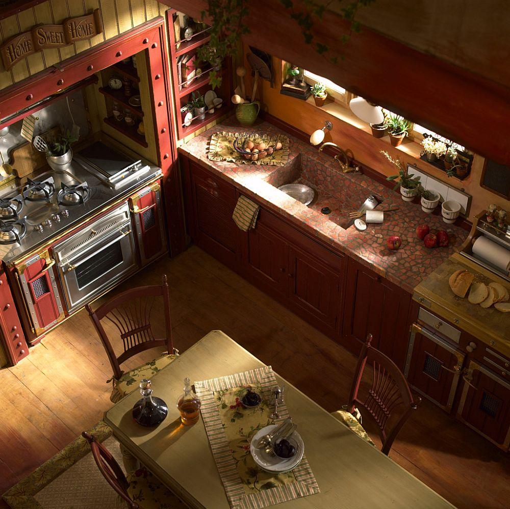 adelaparvu.com despre bucatarii rustice, bucatarii country style, model Incontrada, Marchi Cucine (9)