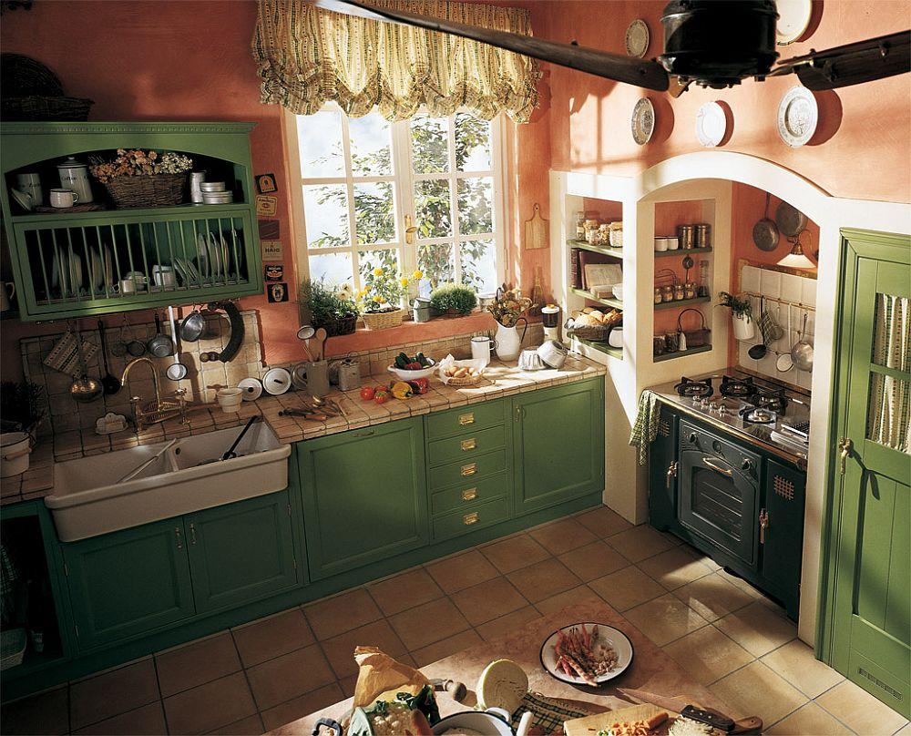 adelaparvu.com despre bucatarii rustice, bucatarii country style, model Old England, Marchi Cucine (7)