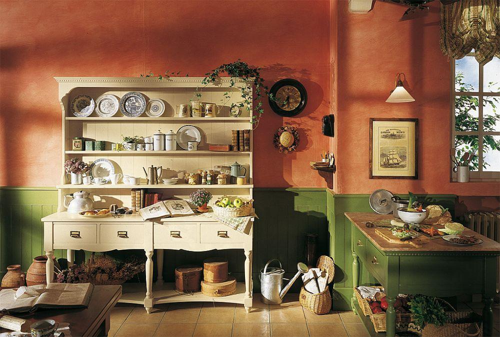 adelaparvu.com despre bucatarii rustice, bucatarii country style, model Old England, Marchi Cucine (8)