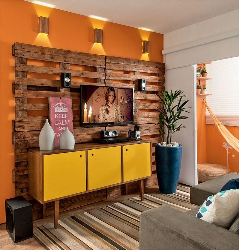 adelaparvu.com despre amenajare living mic cu euro paleti, living 10 mp, design Glaucio Gonçalves, Foto Minha Casa  (1)