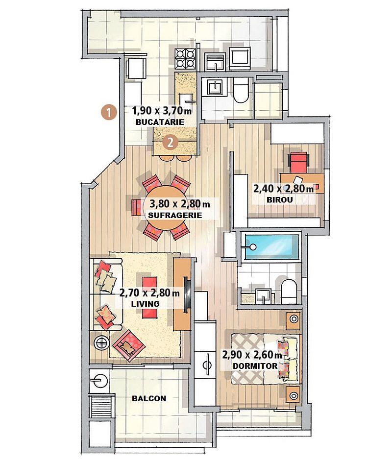 adelaparvu.com despre apartament de trei camere cu gratar pe balcon, designer Daniela Berardinelli (8)