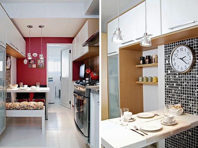 Bucătării mici, dar vesele și bine organizate Hai să vezi 10 idei  Adela Pâ # Decoracao De Cozinha Retangular