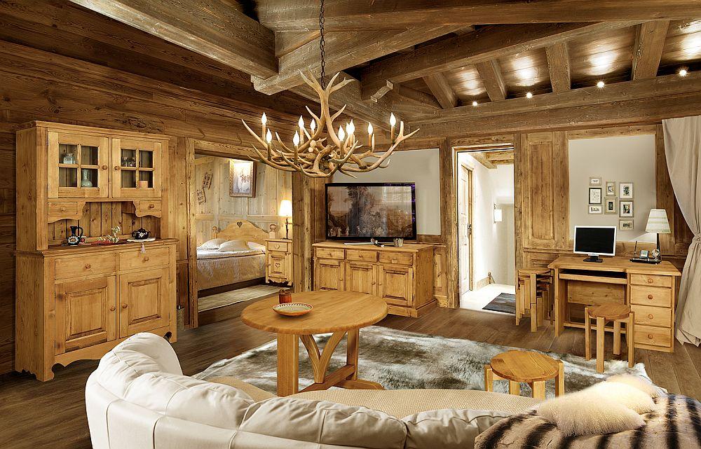 Mobil rustic produs la noi n ar n stil alpin for Arredamento soggiorno rustico
