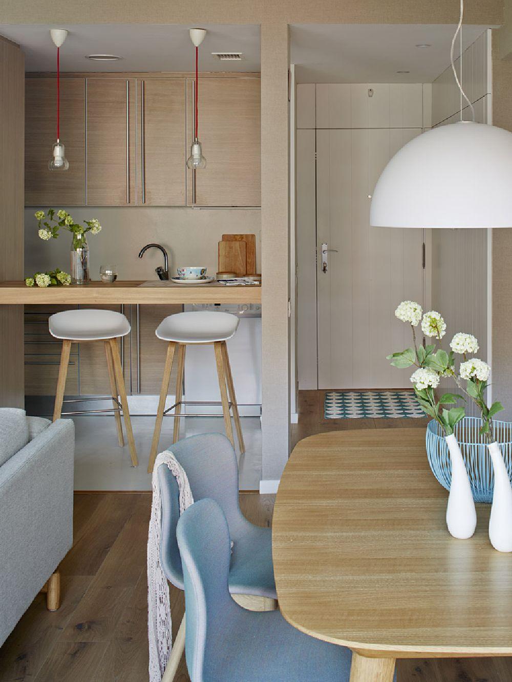 Elegant acest apartament cu aer mediteranean modern for Cocinas para apartaestudios