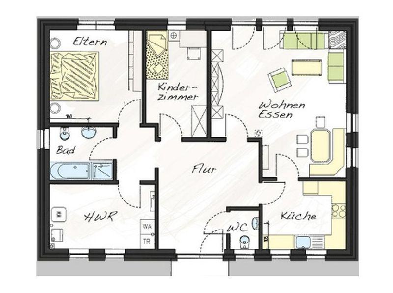 Model casa Prolife100, 99,25 mp, 3 camere, Proiect Haus xxl