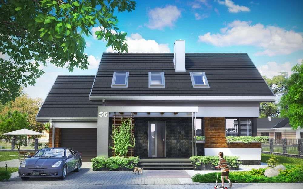 adelaparvu.com despre proiecte de case cu parter si parter si mandarda, Proiect www.archeton.pl Foto Archeton