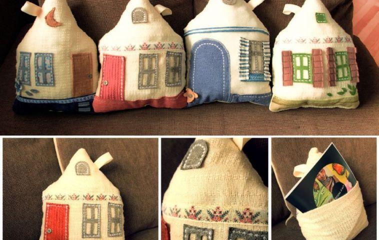 adelaparvu.com despre perne in forma de case, designer arh.Ioana Zdralea