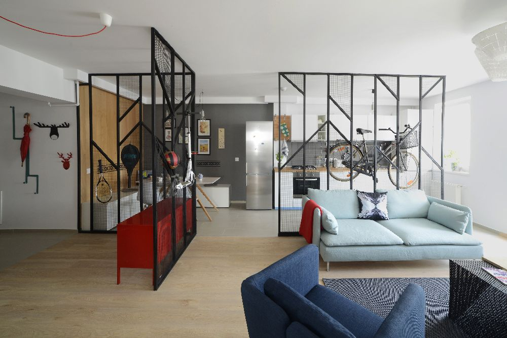 adelaparvu.com despre amenajare apartament 4 camere The Park, designeri Mihnea Ghildus si Marilena Popa (1)