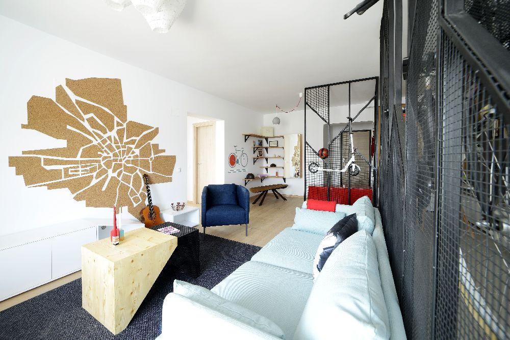 adelaparvu.com despre amenajare apartament 4 camere The Park, designeri Mihnea Ghildus si Marilena Popa (3)