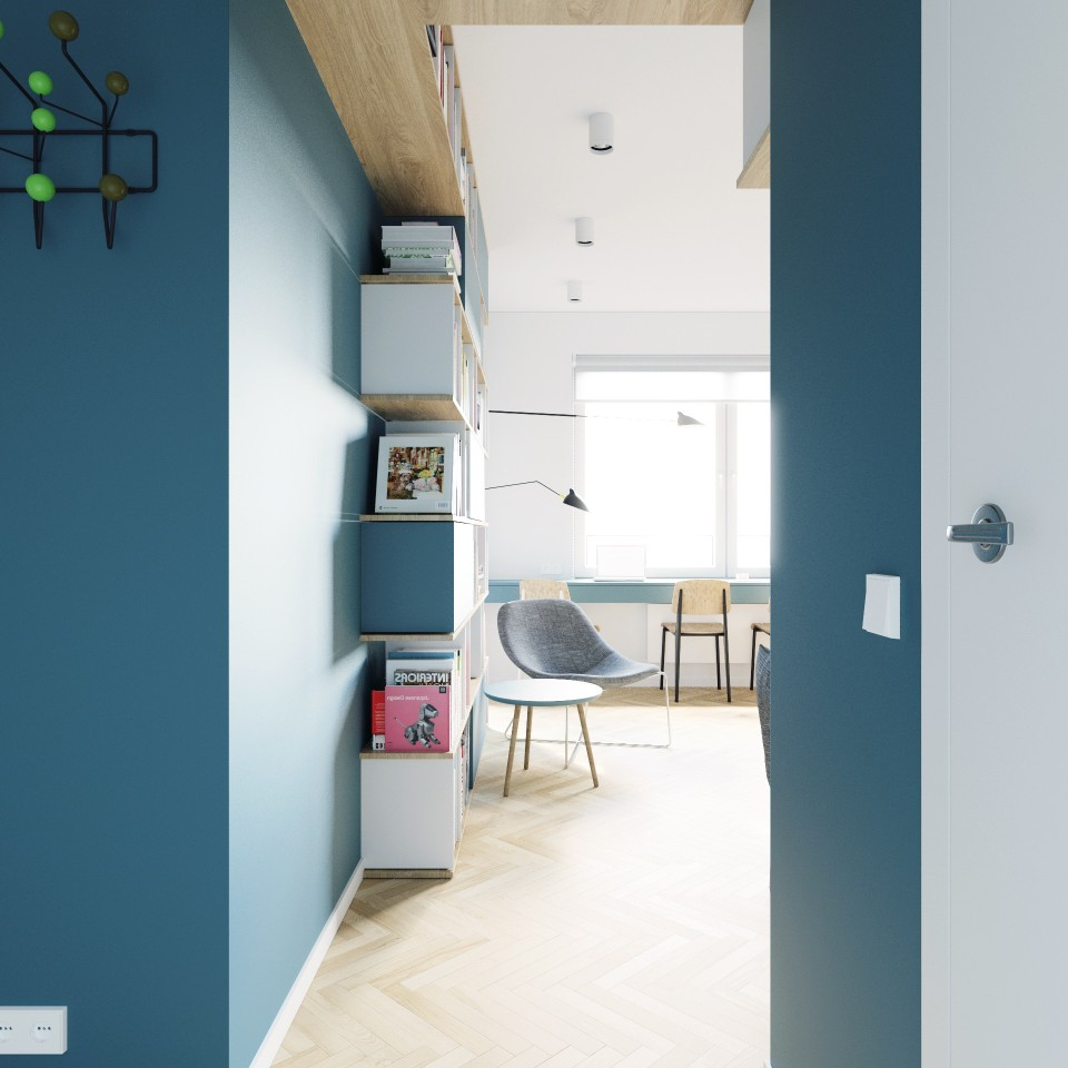 adelaparvu.com despre apartament 2 camre, 40 mp, design Studio 081 Architekci, Foto 081 Architekci (16)
