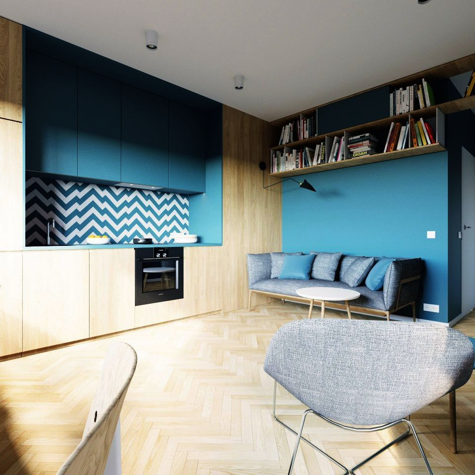 adelaparvu.com despre apartament 2 camre, 40 mp, design Studio 081 Architekci, Foto 081 Architekci (5)