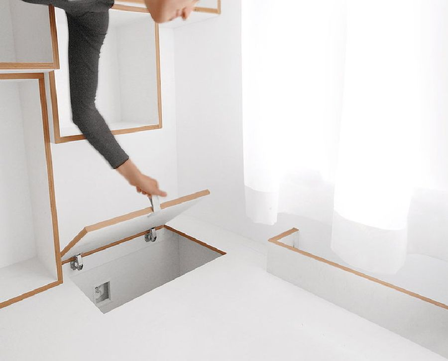 adelaparvu.com despre apartament 41 mp cu doua paturi matrimoniale, design interior arh Daria Pietryka (3)