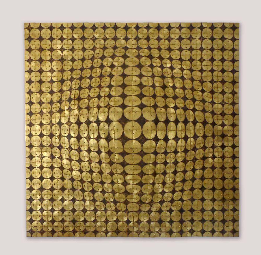 Hellene Diana Neagu, lucrare Breakthrough, 100x100 cm, alama