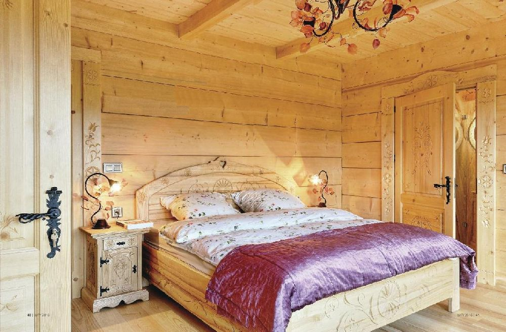 adelaparvu.com despre casa din lemn cu interior folcloric, casa Polonia, design interior Katarzyna Zachariasz-Rybak, k2 Studio (28)
