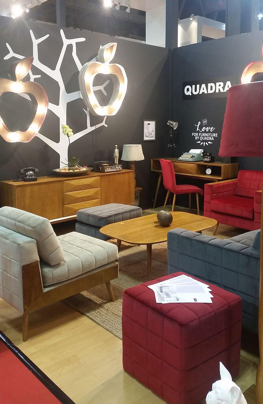 adelaparvu.com despre firme romanesti de mobila la Salone del Mobile Milano 2016, stand Quadra Furniture (3)