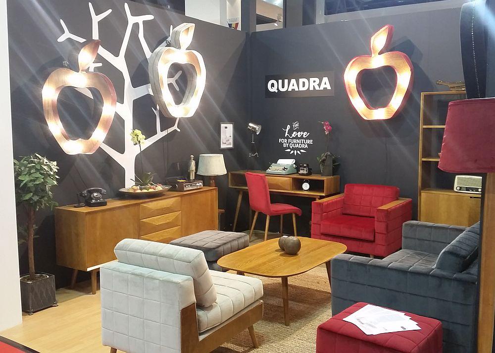 adelaparvu.com despre firme romanesti de mobila la Salone del Mobile Milano 2016, stand Quadra Furniture (7)