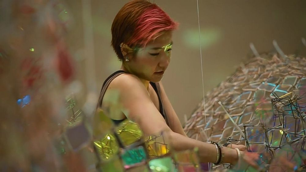 adelaparvu.com despre gard de sarma ca opera de arata, Unwoven Light, artist Soo Sunny Park , Rice University Art Gallery (11)