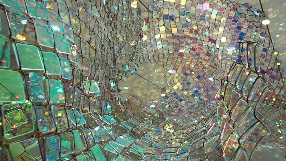 adelaparvu.com despre gard de sarma ca opera de arata, Unwoven Light, artist Soo Sunny Park , Rice University Art Gallery (7)