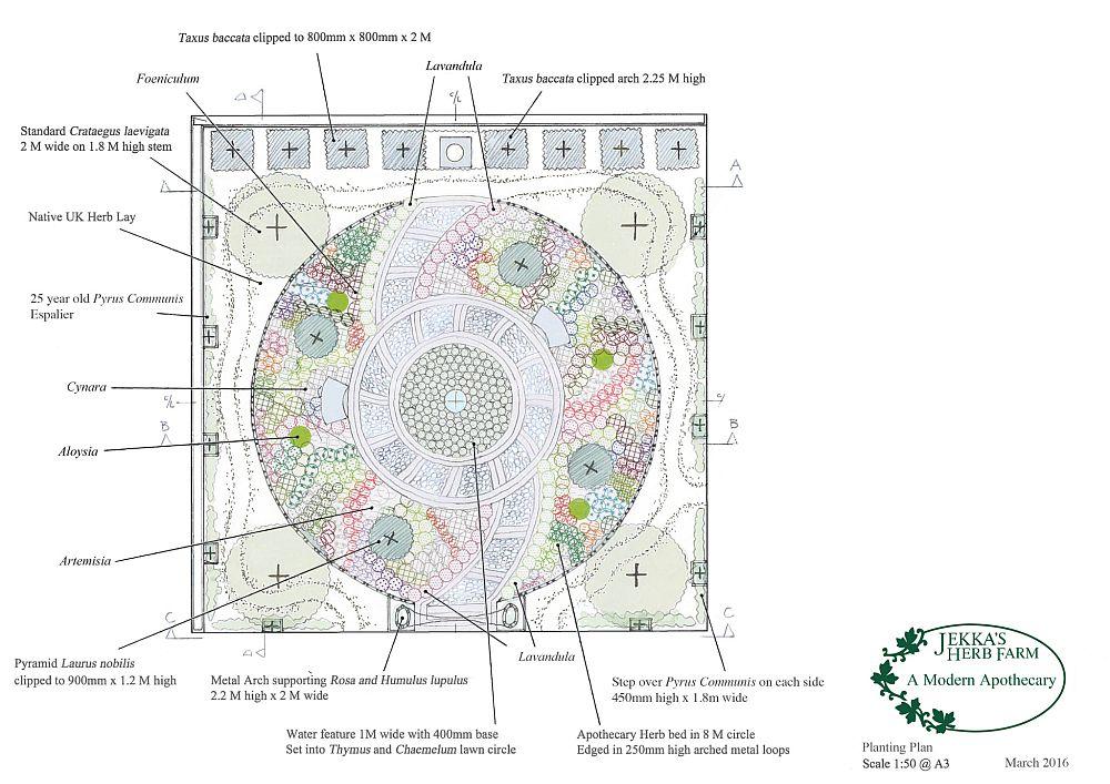 adelaparvu.com despre gradina cu plante medicinale, designer Jekka McVicar, A Modern Apothecary Garden, RHS Chelsea Flower Show 2016 (4)