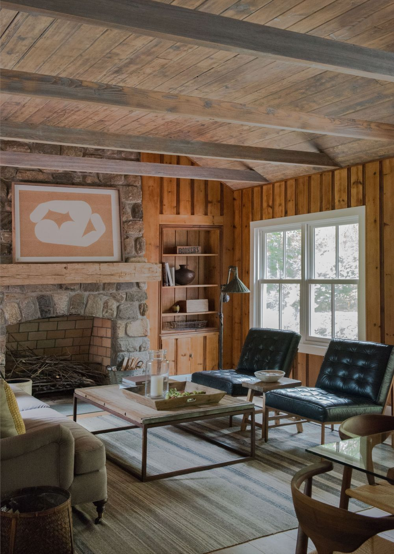adelaparvu.com despre casa din lemn cu interior rustic actual, Design Kelly Mittleman, arch Mark Finlay, Foto Jane Beiles (12)