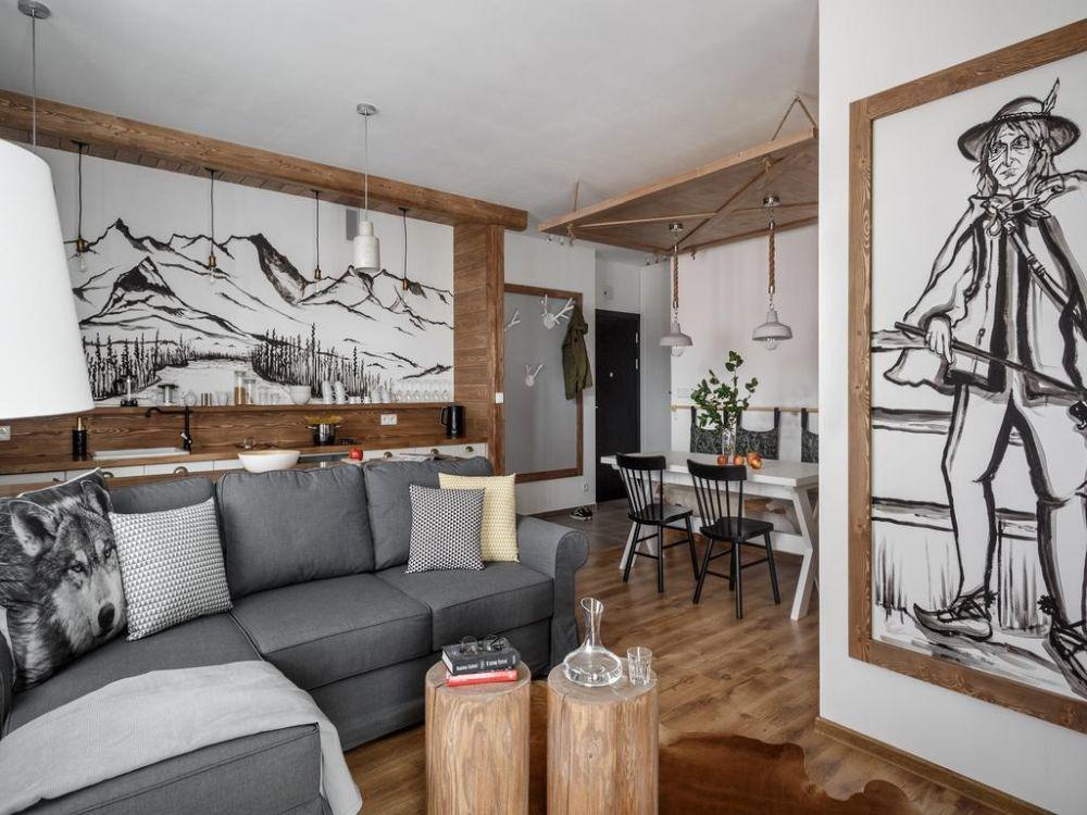 adelaparvu.com despre apartament 2 camere, 46 mp, in stil montan, Polonia, Foto TatryTop (5)