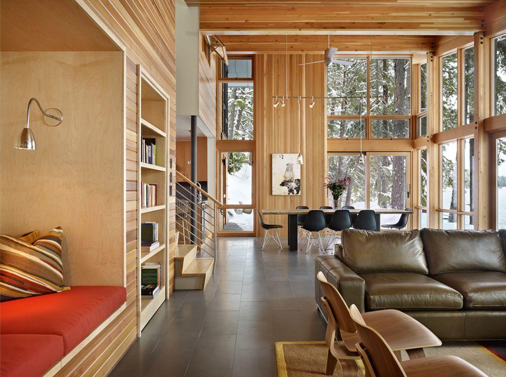 adelaparvu.com despre casa de vacanta contemporana, Design DeForest Architects, Foto Benjamin Benschneider (3)