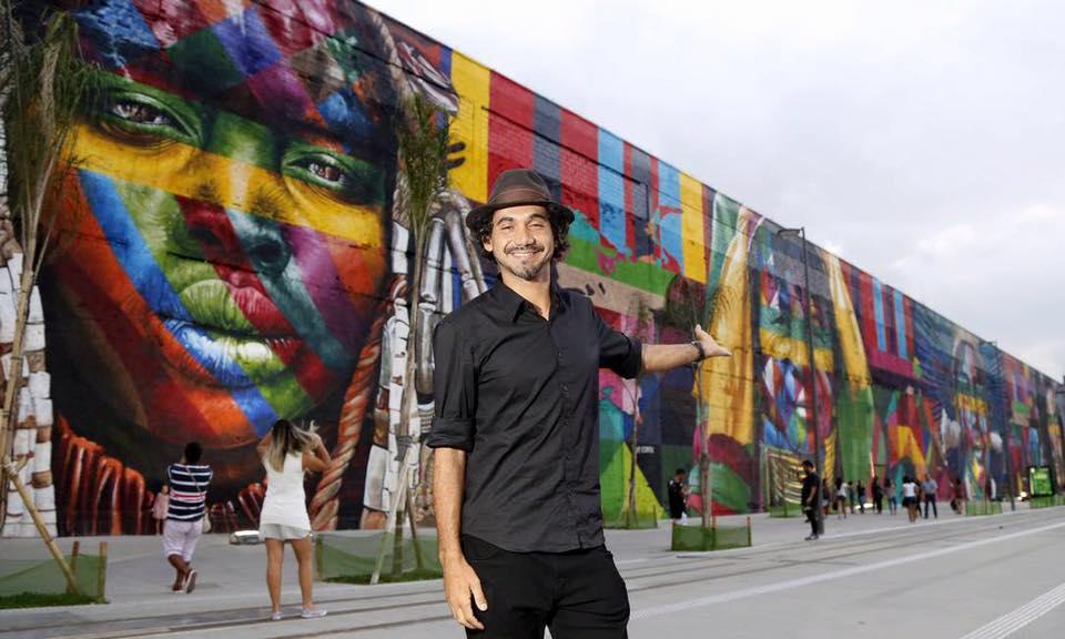 adelaparvu.com despre Eduardo Kobra artistul graffiti al oraselor, murala Indigenous (2)