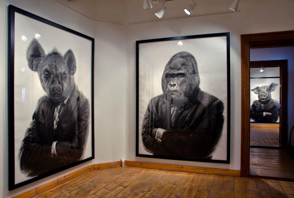 adelaparvu.com despre expozitia Political Bestiary, 2014, Casa Artelor Mogosoaia, Artist Valeriu Mladin (3)
