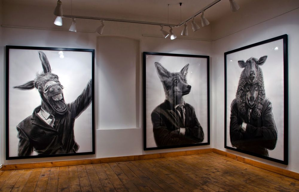 adelaparvu.com despre expozitia Political Bestiary, 2014, Casa Artelor Mogosoaia, Artist Valeriu Mladin (4)
