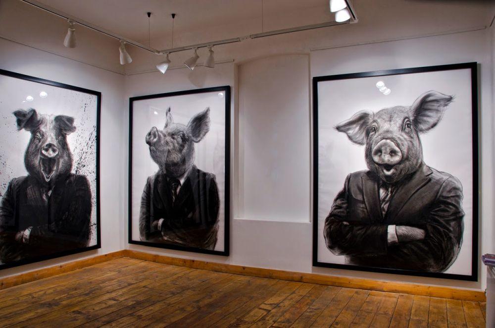 adelaparvu.com despre expozitia Political Bestiary, 2014, Casa Artelor Mogosoaia, Artist Valeriu Mladin (5)