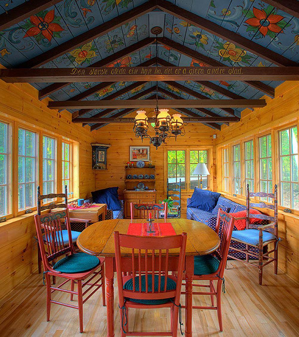 adelaparvu.com despre cabana rustica cu picturi scandinave, design Virge Temme Architecture, Foto Mark Lohmann (1)