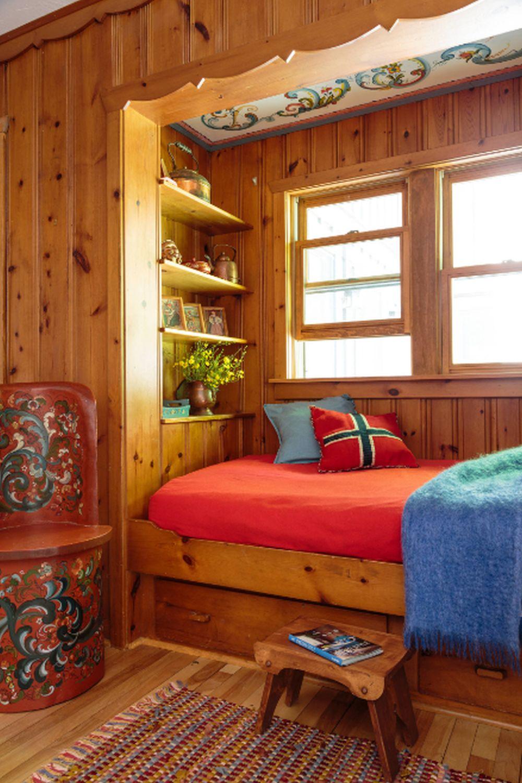 adelaparvu.com despre cabana rustica cu picturi scandinave, design Virge Temme Architecture, Foto Mark Lohmann (4)