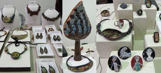 Ana Maria Ariciu este artist ceramist, iar bijuteriile create de ea sunt la fel de surprinzatoare ca si sculpturile contemporane. Viziteaza blogul ei  ca sa vezi si mai multe bijuterii din ceramica: anamariaariciu.blogspot.com