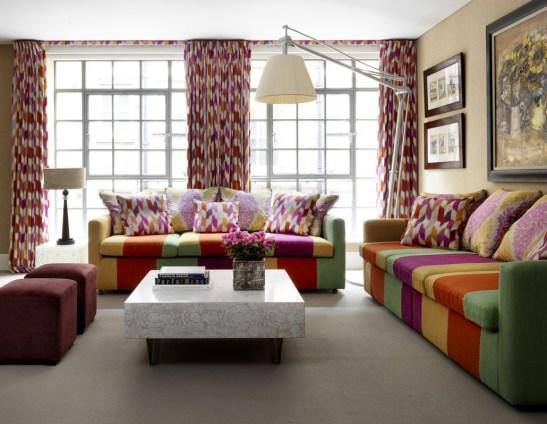 Apartament 3 - Drawing room, designer Kit Kemp, interior de la The Soho Hotel