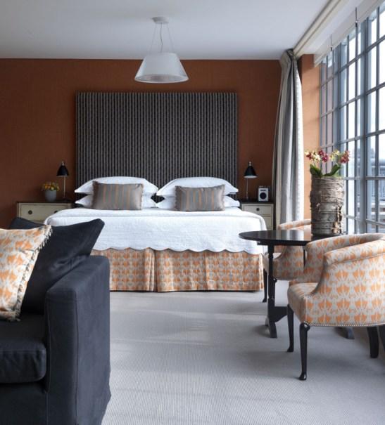 Detaliu din Penthouse Suite 502 de la The Soho Hotel, designer Kit Kemp