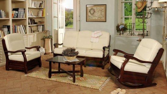 Canapea Roma, produsa de mobila Dalin, fixă 2 locuri, pret 1075 lei si balansoar Roma pret 882 lei la Lems