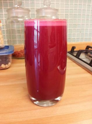 Carrot, apple, celery & beetroot juice